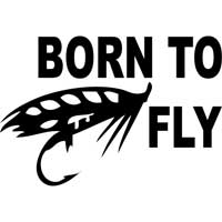 Born to Fly Decal