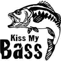 Kiss my Bass Decal